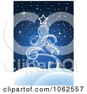 Clipart Blue Christmas Tree Background 1 Royalty Free Vector Illustration by Vector Tradition SM