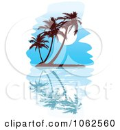 Clipart Palm Tree Island 7 Royalty Free Vector Clip Art Illustration