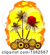 Clipart Palm Tree Island 10 Royalty Free Vector Clip Art Illustration