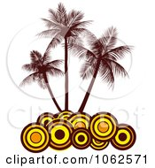 Clipart Palm Tree Island 6 Royalty Free Vector Clip Art Illustration