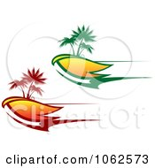 Clipart Palm Tree Island 1 Royalty Free Vector Clip Art Illustration