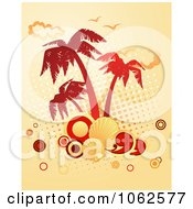Clipart Palm Tree Island 5 Royalty Free Vector Clip Art Illustration by Vector Tradition SM