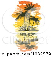 Clipart Palm Tree Island 1 Royalty Free Vector Clip Art Illustration by Vector Tradition SM
