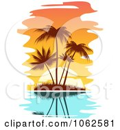 Clipart Palm Tree Island 2 Royalty Free Vector Clip Art Illustration by Seamartini Graphics