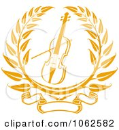 Clipart Violin Or Viola Laurel Royalty Free Vector Illustration by Vector Tradition SM