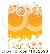 Clipart Orange Floral Background 3 Royalty Free Vector Illustration