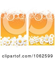Clipart Orange Floral Background 5 Royalty Free Vector Illustration