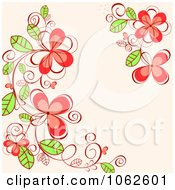 Clipart Pink Floral Background 16 Royalty Free Vector Illustration