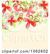 Clipart Pink Floral Background 9 Royalty Free Vector Illustration