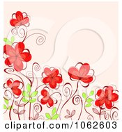 Clipart Pink Floral Background 21 Royalty Free Vector Illustration