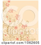 Clipart Pink Floral Background 19 Royalty Free Vector Illustration