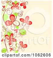 Clipart Pink Floral Background 15 Royalty Free Vector Illustration