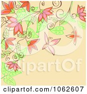 Clipart Pink Floral Background 11 Royalty Free Vector Illustration
