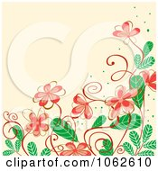 Clipart Pink Floral Background 12 Royalty Free Vector Illustration