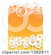 Clipart Orange Floral Background 6 Royalty Free Vector Illustration