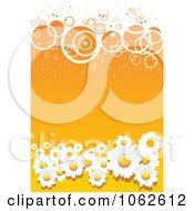 Clipart Orange Floral Background 4 Royalty Free Vector Illustration
