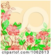 Clipart Pink Floral Background 13 Royalty Free Vector Illustration