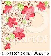 Clipart Pink Floral Background 20 Royalty Free Vector Illustration