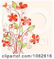 Clipart Pink Floral Background 18 Royalty Free Vector Illustration
