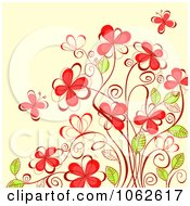 Clipart Pink Floral Background 17 Royalty Free Vector Illustration