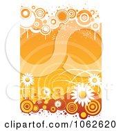 Clipart Orange Floral Background 2 Royalty Free Vector Illustration