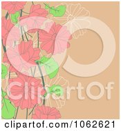 Clipart Pink Floral Background 8 Royalty Free Vector Illustration