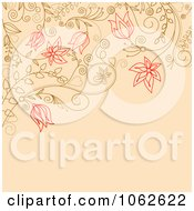 Clipart Pink Floral Background 7 Royalty Free Vector Illustration