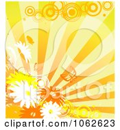 Clipart Orange Floral Background 10 Royalty Free Vector Illustration by Vector Tradition SM