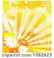 Clipart Orange Floral Background 10 Royalty Free Vector Illustration