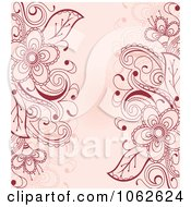 Clipart Pink Floral Background 1 Royalty Free Vector Illustration