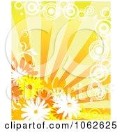 Clipart Orange Floral Background 8 Royalty Free Vector Illustration