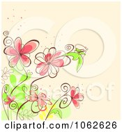 Clipart Pink Floral Background 6 Royalty Free Vector Illustration