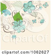Clipart Pink Floral Background 5 Royalty Free Vector Illustration