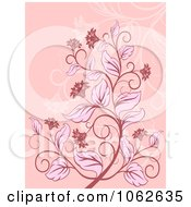 Clipart Pink Floral Background 2 Royalty Free Vector Illustration