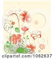 Clipart Pink Floral Background 3 Royalty Free Vector Illustration