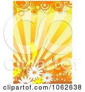 Clipart Orange Floral Background 7 Royalty Free Vector Illustration
