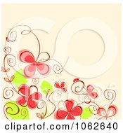 Clipart Pink Floral Background 4 Royalty Free Vector Illustration