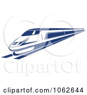 Clipart Blue Subway Train 2 Royalty Free Vector Illustration