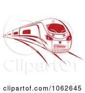 Clipart Red Subway Train 1 Royalty Free Vector Illustration