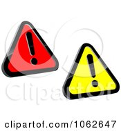 Clipart Warning Signs Digital Collage Royalty Free Vector Illustration