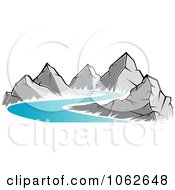 Clipart Mountain Logo 4 Royalty Free Vector Illustration by Seamartini Graphics