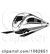 Clipart Subway Train In Black And White 4 Royalty Free Vector Illustration
