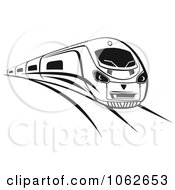 Clipart Subway Train In Black And White 1 Royalty Free Vector Illustration