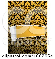 Clipart Torn Paper Through Floral Design 1 Royalty Free Vector Illustration
