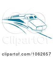 Clipart Blue Subway Train 1 Royalty Free Vector Illustration