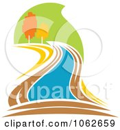 Clipart Nature And River Logo 6 Royalty Free Vector Illustration