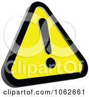 Clipart Yellow Warning Sign Royalty Free Vector Illustration