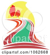 Clipart Nature And River Logo 3 Royalty Free Vector Illustration