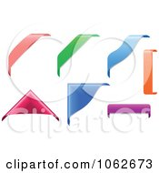 Clipart Corner Covers And Banners Digital Collage Royalty Free Vector Illustration