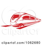 Clipart Red Subway Train 2 Royalty Free Vector Illustration